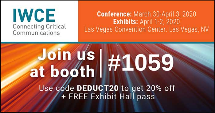 IWCE March 30- April 3, 2020 Las Vegas